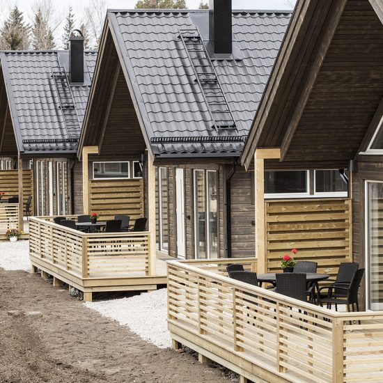 Cabins in Jockfall. Photo: Håkan Stenlund