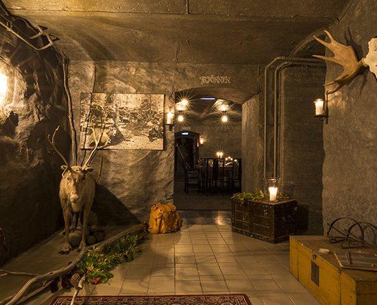 Wine cellar at Haparanda Stadshotell
