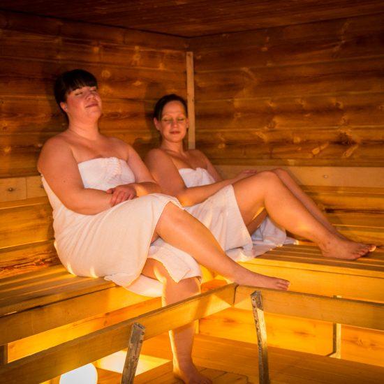 Sauna, Svanstein Lodge